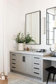 The Sunset House: The Bedrooms - Studio McGee Upstairs Bathrooms, Master Bathroom, Bathroom Renos, Washroom, Bathroom Vanities, Studio Mcgee, Bathroom Interior Design, Bathroom Styling, Interior Decorating