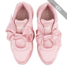 The Puma Fenty by Rihanna Bow Sneaker in Silver Pink