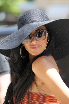 HAVE to get one this summer!  I wanted one last summer and never bought one. So cute!! A classic black straw sun hat #neednow!
