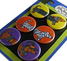 Halloween Dachshunds Magnet Set!