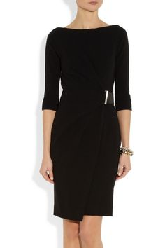 KAUFMANFRANCO Belted stretch-wool dress
