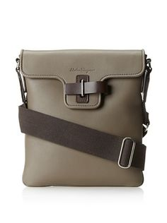 30% OFF Salvatore Ferragamo Men's Cross-Body Bag (Taupe)