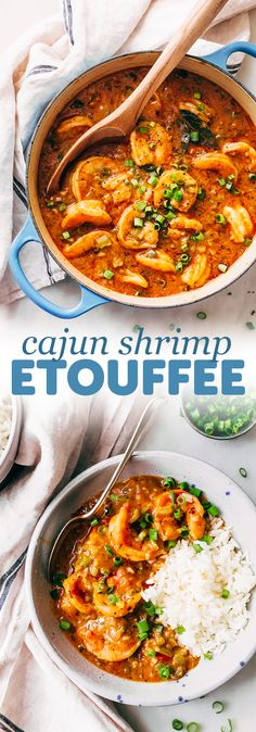 Cajun Shrimp Étouffée Recipe - Little Spice Jar - - A New Orleans classic - shrimp etouffee! We're making etouffee from scratch and I'm even using my own cajun seasoning blend. Serve shrimp etouffee with rice and it is the ultimate comfort food! Cajun Recipes, Fish Recipes, Seafood Recipes, Seafood Soup, Seafood Meals, Cajun And Creole Recipes, Shrimp Meals, Haitian Recipes, Louisiana Recipes