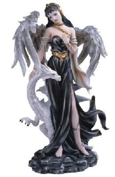 Black Fairy With White Dragon Collectible