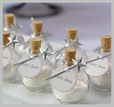 Make~ Fairy Dust Party Favor Wish upon a star! This glittering fairy dust comes with its own silver wand. Use your imagination to incorporate our Fairy Dust into a happy party game or as a prize to the party game winners Party Box, Party Time, Party Party, Fairy Birthday Party, Girl Birthday, Birthday Parties, Birthday Ideas, Garden Birthday, Birthday Favors