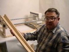 Ken's Machine Quilt Frame Project - YouTube