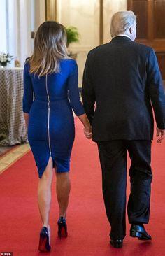 President & First Lady Melania Trump, Medal of Freedom Ceremony, Milania Trump Style, Melina Trump, Donald Trump Family, Donald And Melania, Trump Is My President, Metallic Blouses, First Lady Melania Trump, Professional Outfits, Ivanka Trump