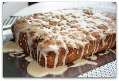 Sour Cream Coffee Cake with Maple Glaze