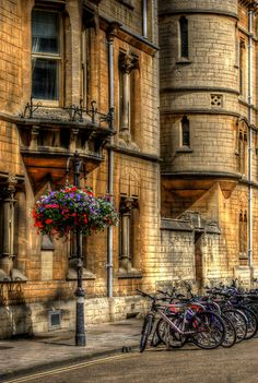 'Oxford Bicycles' by Yhun Suarez Oxford England, London England, Cornwall England, Yorkshire England, Yorkshire Dales, England Uk, Places To Travel, Places To See, Oxford City
