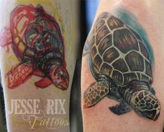 Jesse Rix - Sea Turtle Tattoo