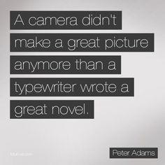 Photographers/cameras, Writers/computer or typewriter, Artists/canvas or brushes