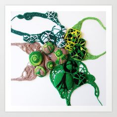 Green Lace Fine Art Photography Art Print by BaleaRaitzART - $38.48