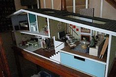 Modern Mini Houses#. I would love to build a miniature house!!! Awesome!!