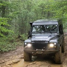 Land Rover Defender 110 Td4 Adventure in action.