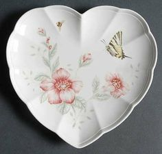 Lenox China Butterfly Meadow Heart Shaped Dish, Fine China Dinnerware by Lenox China. $23.99. Lenox China - Lenox China Butterfly Meadow Heart Shaped Dish - Multicolor Butterflies, Floral Accents