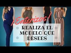 #29 REALIZA TODOS LOS ENTERIZOS QUE QUIERAS/ Te enseño cual es la forma! - YouTube Make All, How To Make, One Piece Dress, Couture, I Want You, Sewing Clothes, The One, Girl Fashion, Pattern