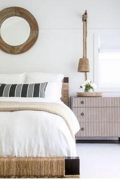 Coastal bedroom with beach style influence