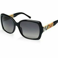 Burberry  Sunglasses This best-selling female shape features polarized lenses and an updated version of the iconic house check. Classic Burberry design for a timeless, elegant look. Square Shape Burberry Accessories Glasses