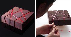 Takto detailne prepracované torty ste určite ešte nevideli! Architektka a dizajnérka z Ukrajiny Dinara Kasko pečie dezerty, geometricky pravidelné zákusky