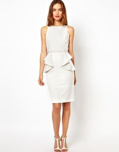 Coast Ana Shift Dress with Peplum Detail