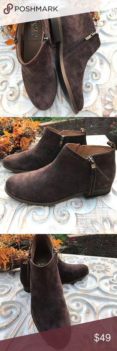 Franco Sarto suede Booties, brand spanking new Brand new brown suede booties size 9 1/2 Shoes Ankle Boots & Booties
