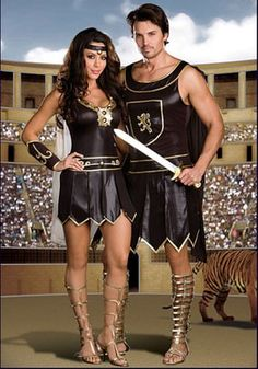 Gladiator Queen Costume, Babe-a-lonian Warrior Queen, Sexy Gladiator Costume Sexy Halloween Costumes, Couple Halloween, Halloween Cosplay, Adult Costumes, Costumes For Women, Halloween Stuff, Party Costumes, Couple Costumes, Costume Ideas