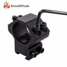 1 Inch//25.4mm Flashlight Laser Mount Scope Ring Mount Holder Adapter