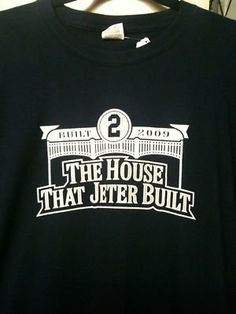 Derek Jeter Yankee Stadium house Jeter built t shirt - Size 2XL by Your Sports Memorabilia Store. $14.99