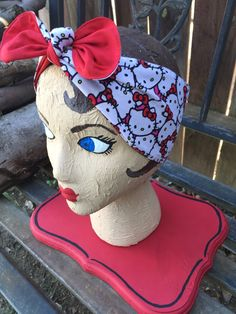 Hello kitty dolly bow headband Sanrio licensed fabric only not a licensed item