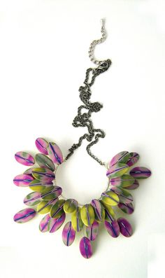 Green feather flower - Fleur plume verte