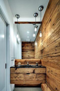 Wooden Rustic Bathroom Design Ideas