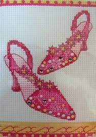shoes cross stitch - Google Search