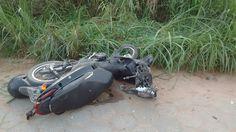 Motoqueiro tem ferimentos graves em acidente na cidade de Ascurra