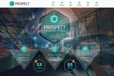 Prospect Creative HTML Template by cwsthemes on @creativemarket