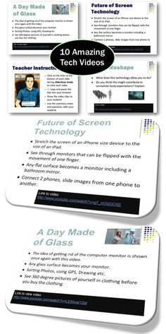 Links to 10 amazing technology videos are included in this presentation. * The videos are exciting, quick and definitely grab students' attention. Teaching Technology, Technology Integration, Teaching Resources, Learning Apps, Interactive Learning, Computer Lessons, Computer Science, Educational Videos, Educational Technology