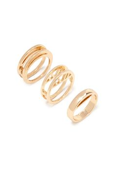 Geo Cutout Ring Set