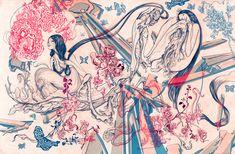 Famed Taiwanese American artist James Jean's recent & most celebrated works & artbooks images Art And Illustration, Anton, Artist Sketchbook, Sketchbook Inspiration, Art Inspo, Painting & Drawing, Art Reference, Illustrators, Art Drawings