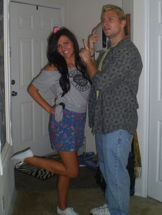 Great Halloween costume idea...Kelly Kapowski and Zach Morris