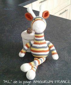 Crochet Amigurumi, Diy Crochet, Giraffe, Elephant, Diy Crafts, Arc, Christmas Ornaments, Ciel, Knitting