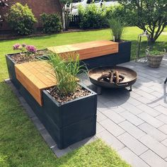 Login Our new project for the terrace is finished … - Modern Garden Types, Back Gardens, Outdoor Gardens, Diy Planters Outdoor, Wood Planters, Outdoor Decor, Back Garden Design, Backyard Patio, Garden Beds