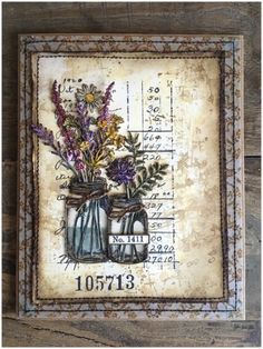 """Zoe here and I'm delighted to be hosting the Frilly and Funkie challenge. I've chosen """"BLOOMIN' MARVELLOUS"""" as the challe. Tim Holtz Dies, Sizzix Dies, Design Tape, Mason Jar Cards, Flowers In Jars, Paper Flowers, Handmade Tags, Art Journal Inspiration, Journal Ideas"""