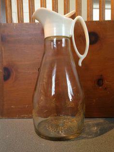 Vintage Log Cabin American eagle syrup pitcher/ salad dressing pitcher