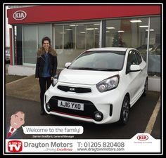 Mrs Becky Smith collecting her Kia Picanto Chilli from Richard | by draytonkia