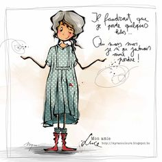 """: mon amie """"LUCE"""" - Dominique Delmotte - Image Sharing World Illustration Française, Illustrations, Illustration Children, Image Positive, Positive Attitude, Sketch Notes, Watercolor Cards, Plexus Products, Image Sharing"""