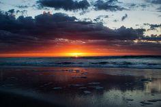 A beautiful sunrise in Pinamar,Argentina.