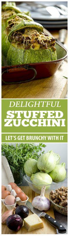 Stuffed zucchini is