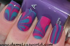 Water marbling nail polish - I really need to try this someday