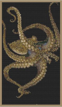 The Flowing Octopus - Peyote Chart Pattern offered at www.etsy.com/listing/160978334. Love this one!!!