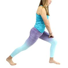 Ombre Yoga Athletic Workout Exercise Capris Leggings Purple * Check this awesome product by going to the link at the image.