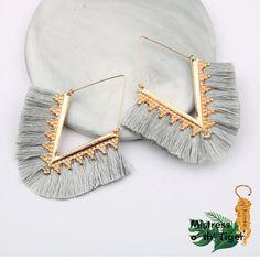Retro V Shape Rope Fringes Drop Earrings – Benovafashion Snake Earrings, Tassel Drop Earrings, Hanging Earrings, Fringe Earrings, Tassel Earrings, Statement Earrings, Dangle Earrings, Wedding Earrings Drop, Fashion Jewelry